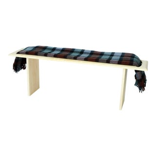 Contemporary Blanket Hardwood Bench For Sale