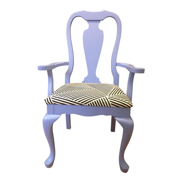 Lavender Painted Vintage Chair - Image 1 of 7