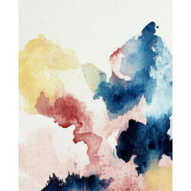 """Ellen Sherman """"Improbable Landscape"""" Painting - Image 4 of 5"""
