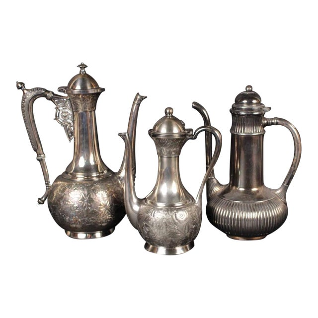 Moorish Coffee Pots From the Aesthetic Movement - Set of 3 For Sale