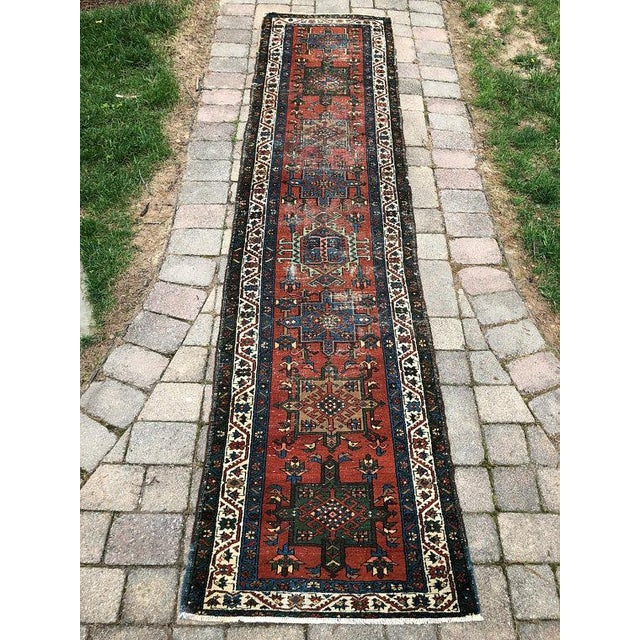 "Vintage Karajeh Wool Runner Rug - 2'10""x11'2"" For Sale - Image 10 of 10"