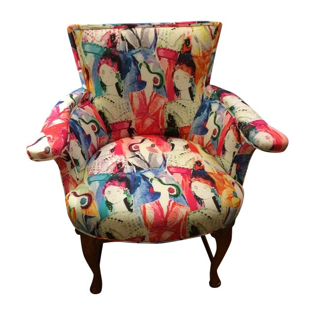 Oly Upholstered Armchairs - Pair - Image 1 of 6
