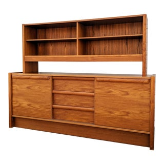Danish Modern Teak Credenza Buffet Dresser by Faarup Mobelfabik For Sale