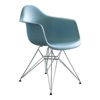 Vintage Eames Blue Arm Chair