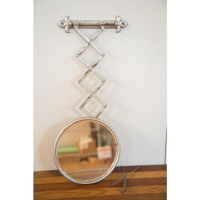 Antique Fleur De Lis Barber Mirror - Image 6 of 11