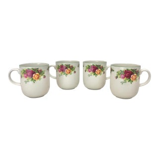 Royal Albert Old Country Roses Mugs - Set of 4 For Sale