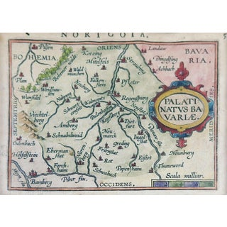 1603 Miniature Map of Bavaria Preview