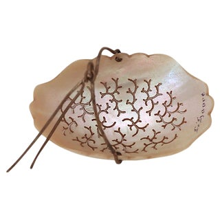 French Mother-Of-Pearl Tea Strainer For Sale