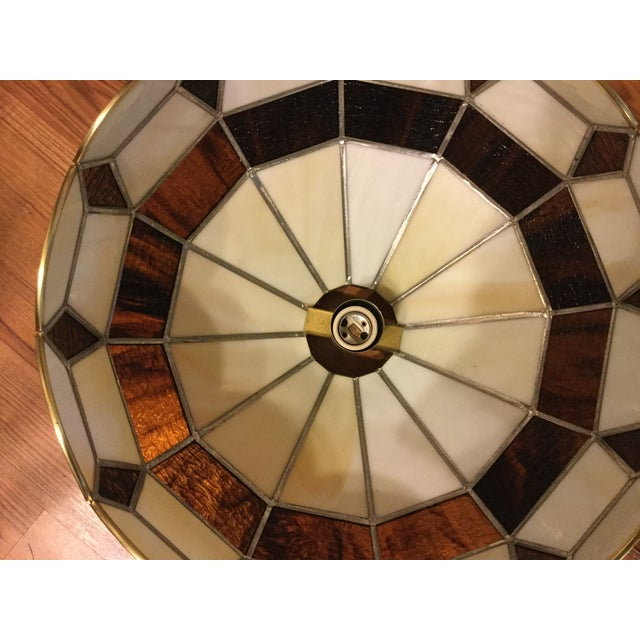 Vintage Tiffany Style Hanging Lamp - Image 5 of 8