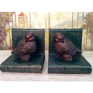 Faux Book Bird Bookends - A Pair Preview