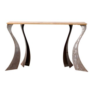 Vintage Sculptural Console Table