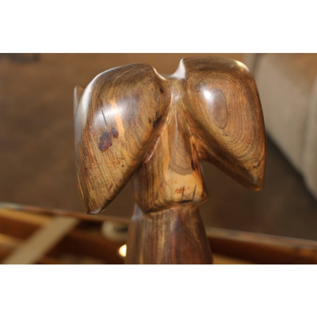 Wood Wood Carved Abstract Big Horn Sheep Sculpture Monogrammed Ja For Sale - Image 7 of 10