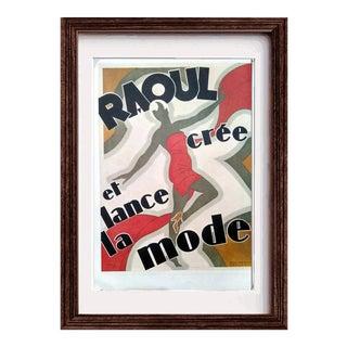 """Vintage """"Raoul Cree Et Lance La Mode"""" Poster"""