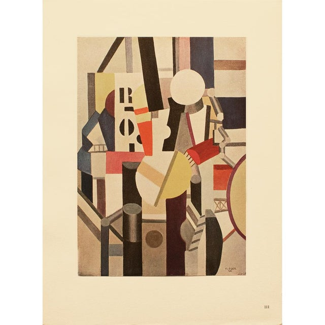 "Ruby Red 1948 Fernand Leger ""Composition"", First Edition Period Parisian Lithograph For Sale - Image 8 of 8"
