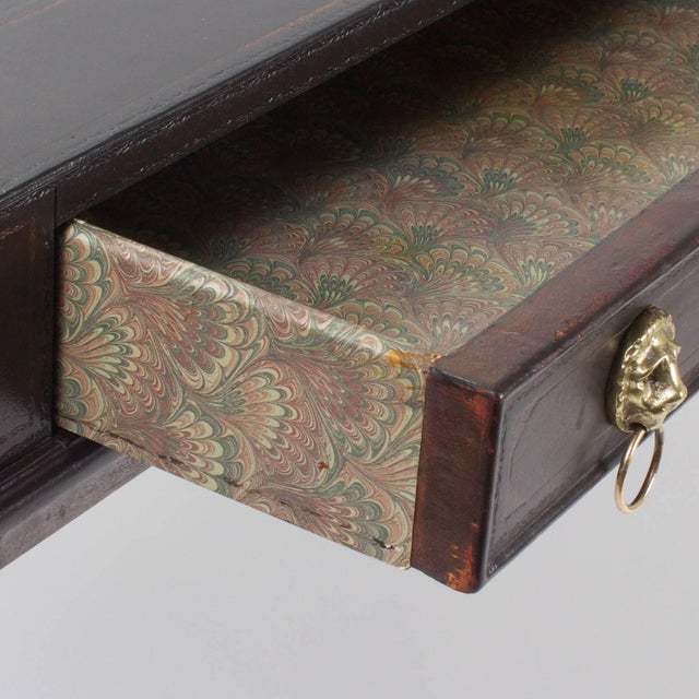 Mid 20th Century Handsome Neoclassical Style Desk or Writing Table For Sale - Image 5 of 10