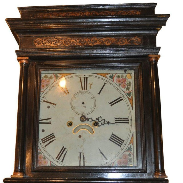 19th Century English Chinoiserie Tall Case Clock England, era: 19th century