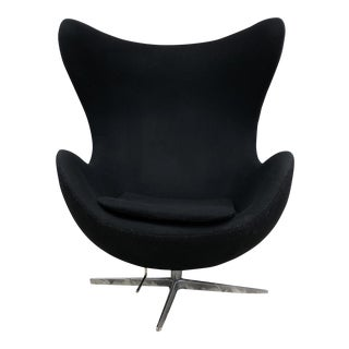 Mid Century Modern Arne Jacobsen Style Egg Chair For Sale