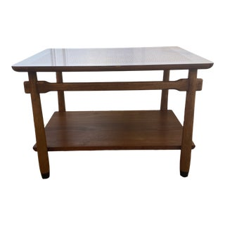 Lane Walnut and Formica Mid-Century Modern End Table For Sale