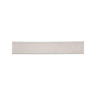 Scalamandre Montauk Herringbone Tape, Silver Grey Fabric For Sale