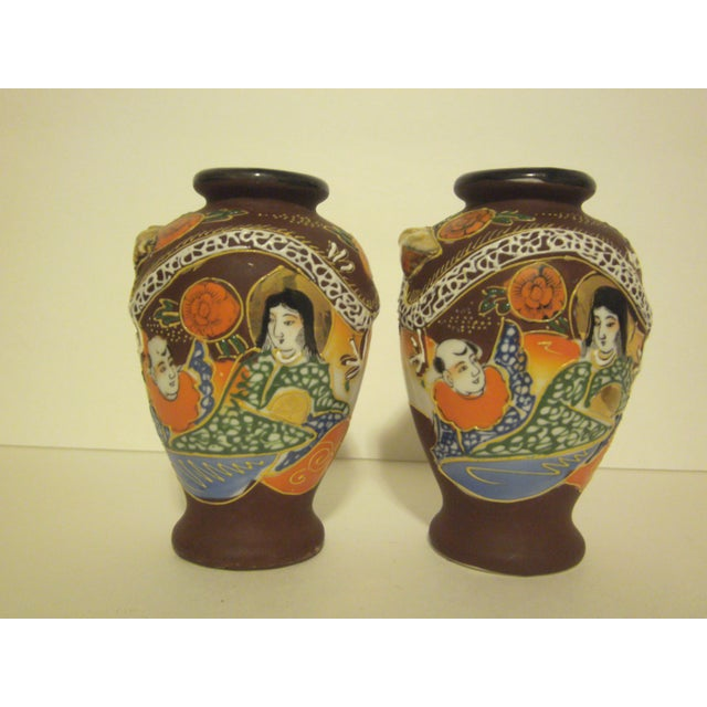 Satsuma Vases & Ginger Jars - Three Pair - Image 4 of 11