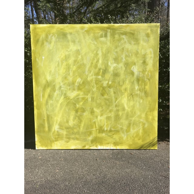 "Sarah Trundle Abstract Sarah Trundle Painting, ""Green Acres"" For Sale - Image 4 of 4"