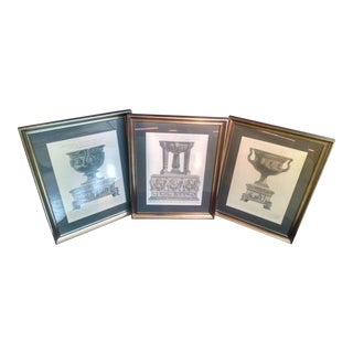 Mid 18th Century Antique Period Piranesi Prints - Set of 3 For Sale