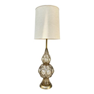 Marbro Murano Caged Glass Table Lamp With Original Shade For Sale