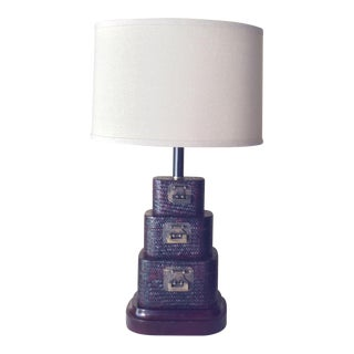 Asian Basket Styled Pagoda Lamp For Sale