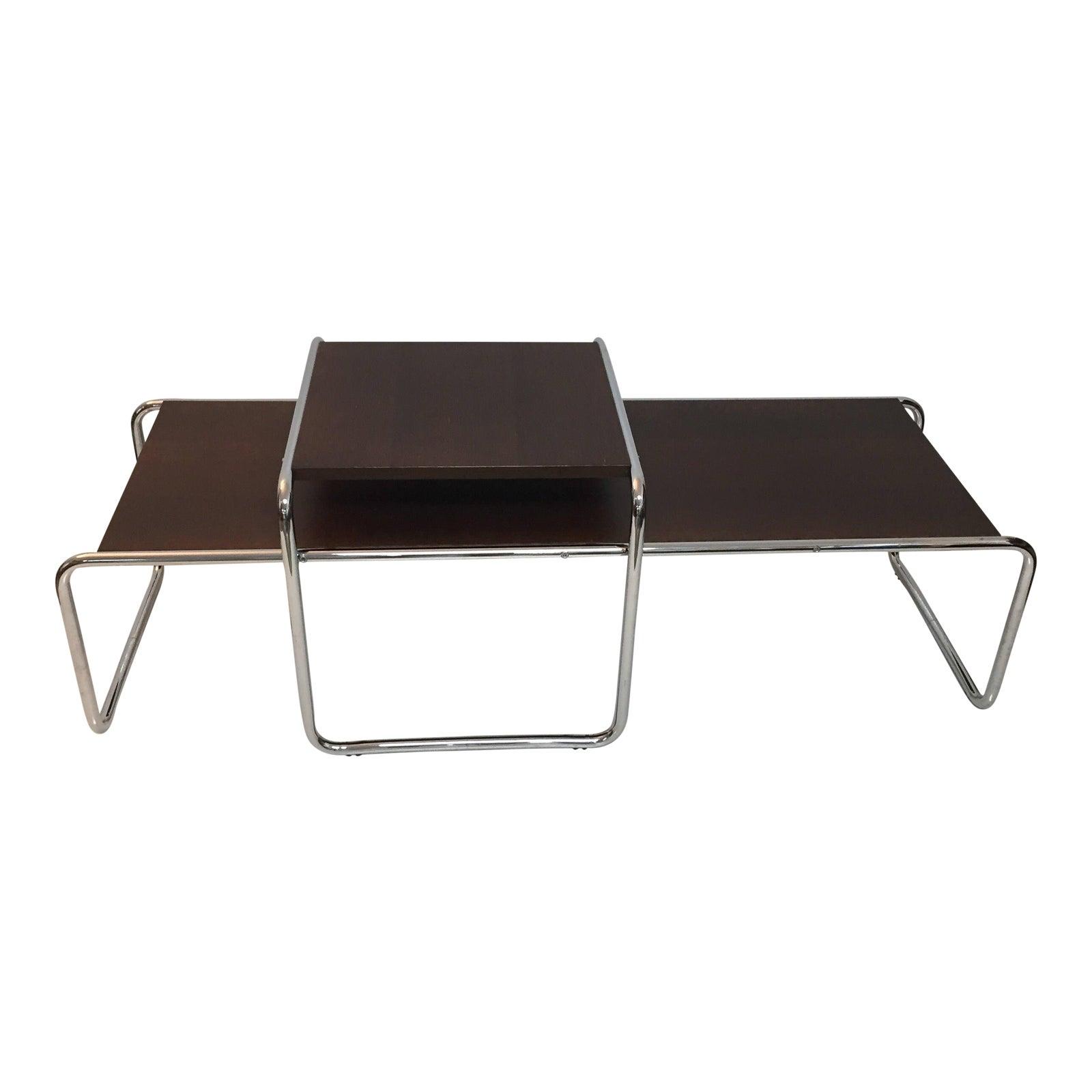 Tubular Steel Bauhaus Laccio Coffee Table Side A Pair Chairish
