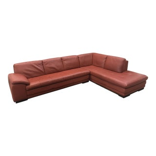 KUKA Terra Cotta Leather Sectional