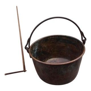 19th Century Antique Copper Pot For Sale