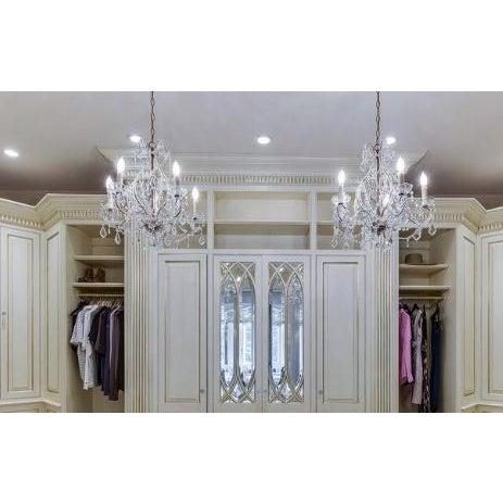 Baroque Schonbek Style Crystal Chandelier For Sale - Image 3 of 4