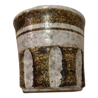 Vintage Pottery Usa Craft Dip Glaze Pencil Holder For Sale