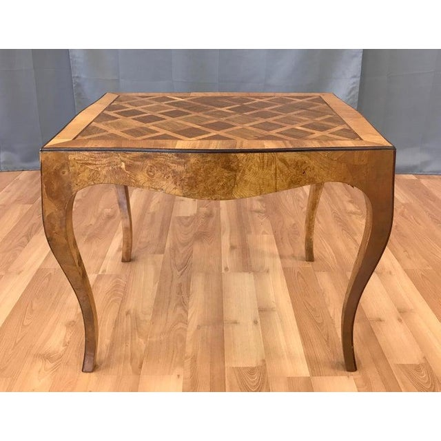 Swell Vintage 1940S Italian Marquetry End Table B Machost Co Dining Chair Design Ideas Machostcouk