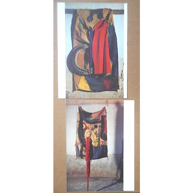 This pair of folio size quadrichrome photographic prints depict tapestries designed by the world famous modern artist Joan...
