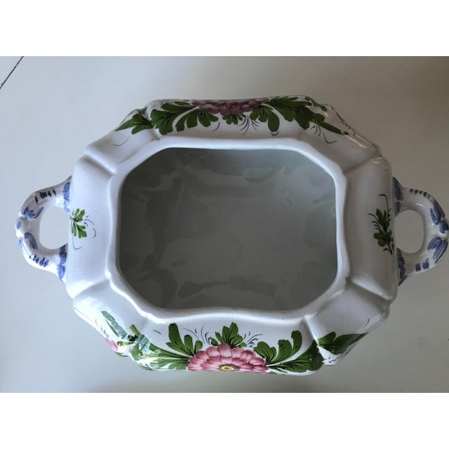 Petite Floral Porcelain Soup Tureen & Tray For Sale - Image 6 of 13