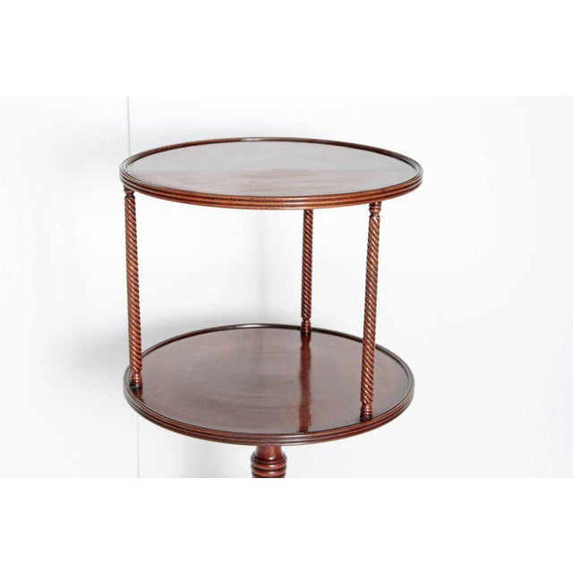 Late 18th Century George III Tiered Dessert Table of Mahogany For Sale - Image 4 of 12