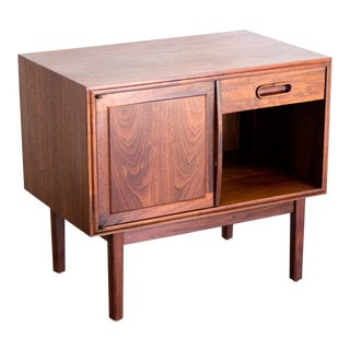 Jack Cartwright Walnut Side Table or Nightstand For Sale