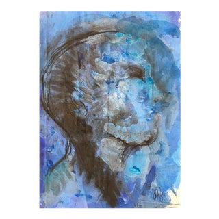 """""""Cabeza Azul"""" Oil on Canvas"""