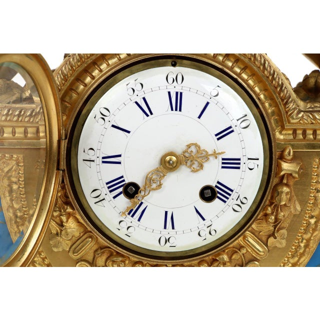 Gilt Bronze & Porcelain Mantel Clock - Image 7 of 11
