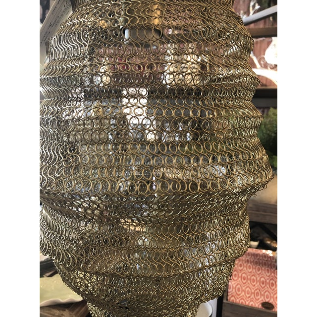 Industrial Copper Mesh Pendant from Kenneth Ludwig Home For Sale - Image 3 of 7