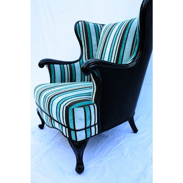 Vintage Round Wing Back Chair Chairish