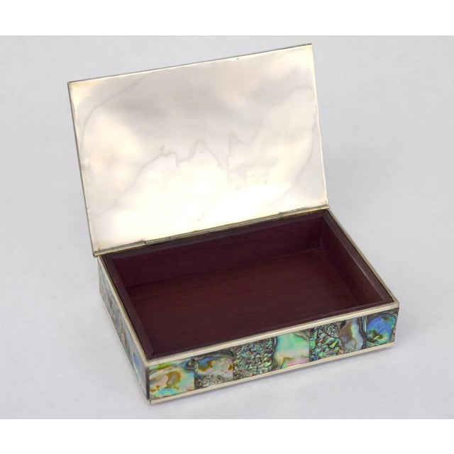 Abalone and Silver Plate Box by Alpaca of Mexico For Sale In Chicago - Image 6 of 10