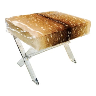 Axis Deer Lucite X Stool For Sale