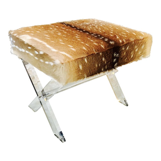 Axis Deer Lucite X Stool - Image 1 of 7