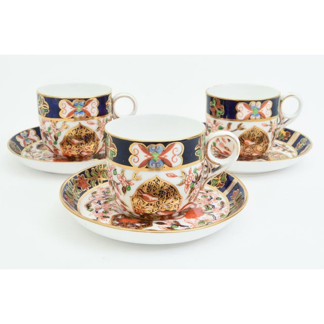 Ceramic Antique England Royal Crown Derby Imari Porcelain Tea Service . For Sale - Image 7 of 13