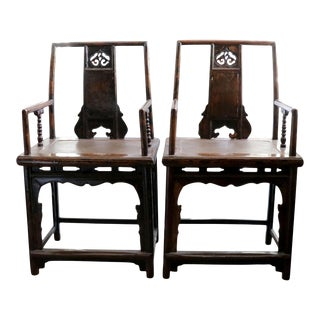 Antique Chinese Chairs, Pair For Sale