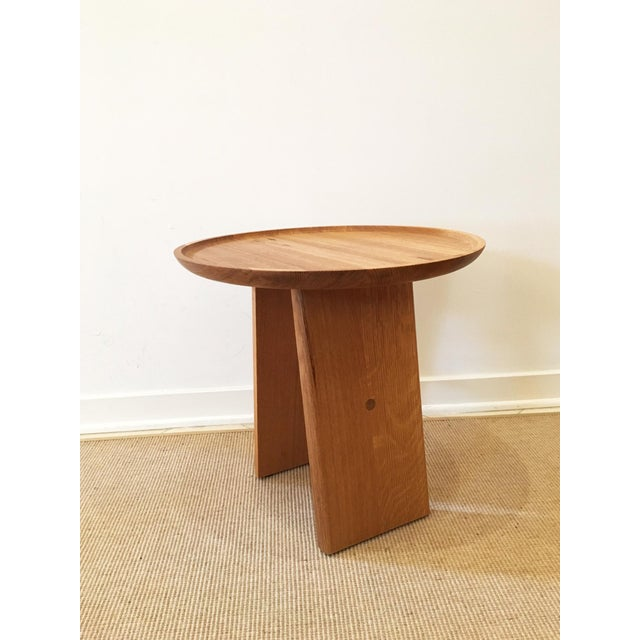 Contemporary White Oak Side Table - Image 2 of 5