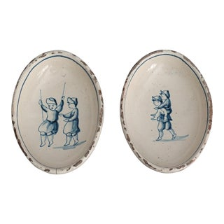 Antique Delft Dishes, Children, Set of 2 For Sale