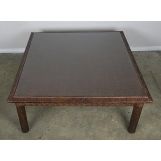 Woven Leather Coffee Table Preview
